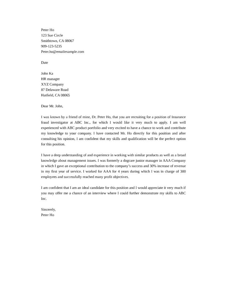 Hr Cover Letter Pdf | Sample Service Resume