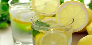 Drinking Lemon Water