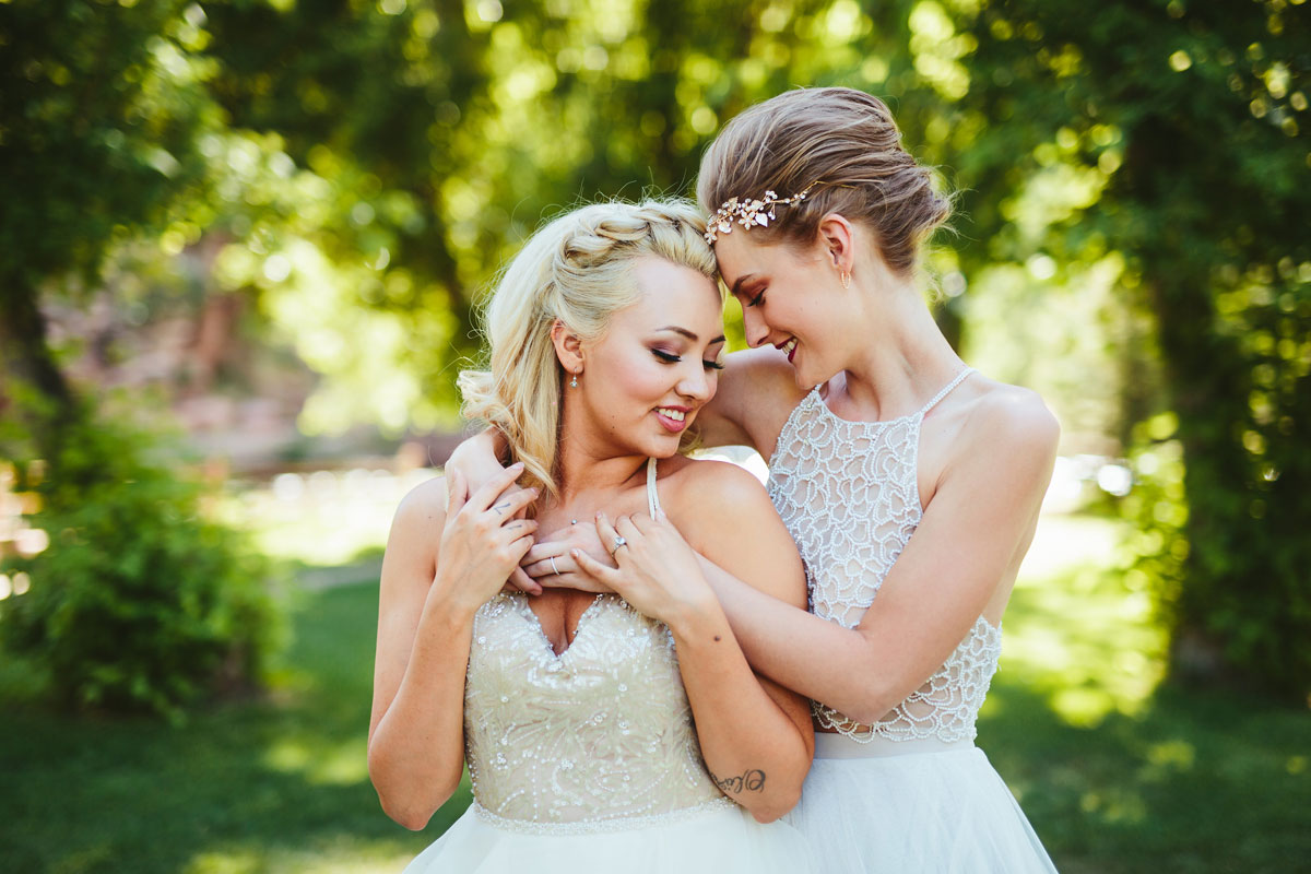 Designer Bordeaux A Modern Lesbian Wedding Styled Shoot - Colorado Weddings