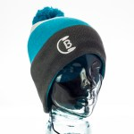 CozyB - Tri Colour Pom Pom Beanie Headphone Front View