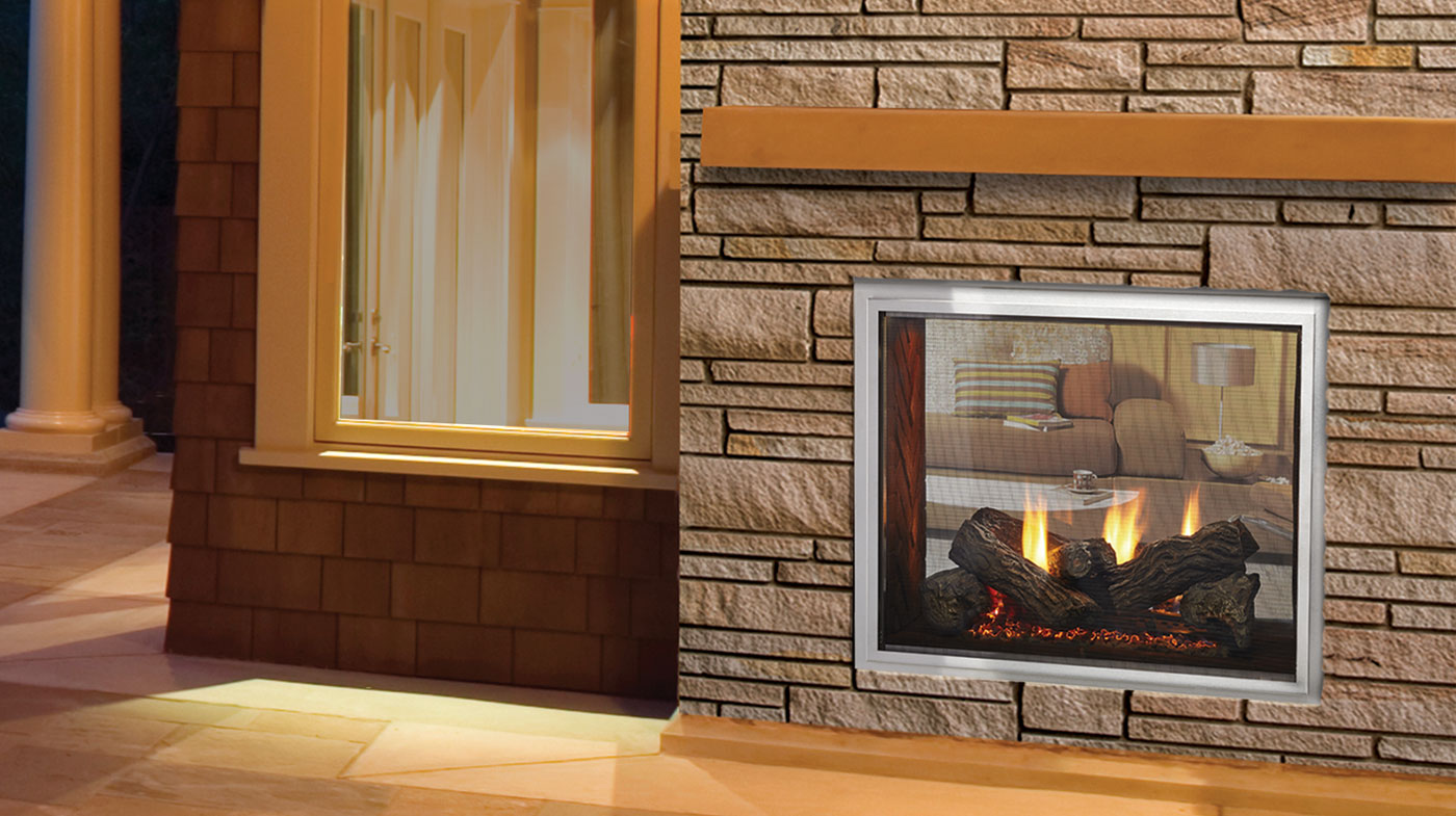 Majestic Outdoor Fireplace Buy Majestic Fortress See Through Gas Fireplace Best