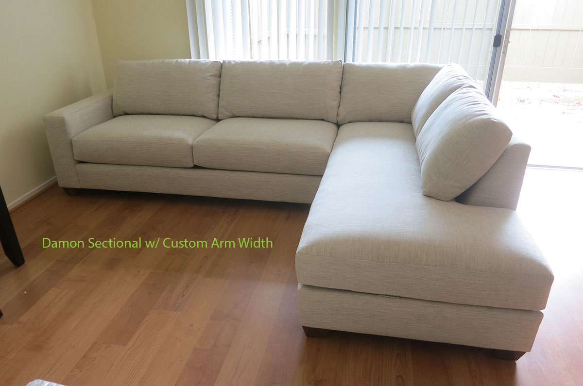 Sleeper Couch Damon Sofa With Bumper Chaise Sectional - Cozy Couch Sf
