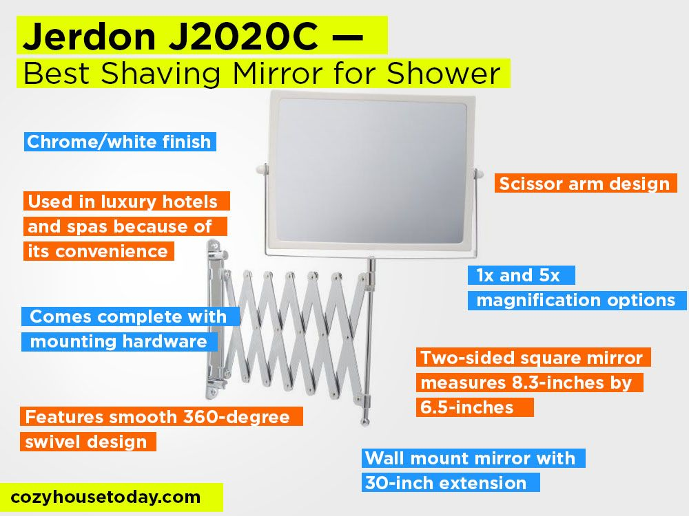 Bathroom Mirror Extension Arm Top 11 Best Fogless Shaving Mirrors For Shower Reviews