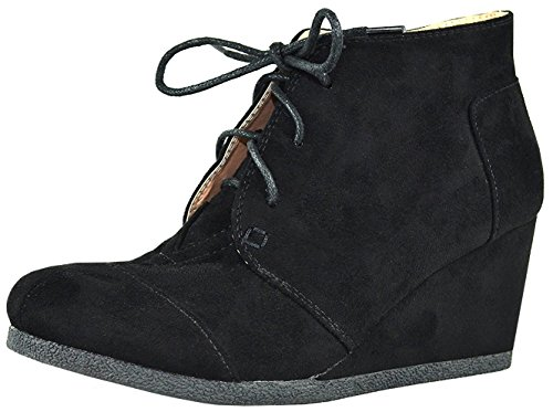 Chase Chloe Women39s Lace Up Oxford Wedge Ankle Bootie9