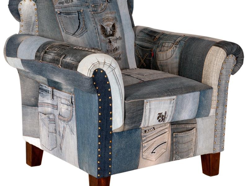 Schön Sessel Indigo Patchwork Jeans Groß » SIT Möbel U2013 Salesfeverde   Designer  Sessel Jeansstoff