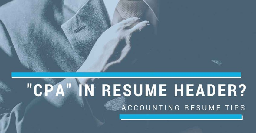 Accounting Resume Tips Should I Write \