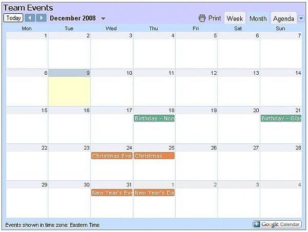 How to Make an Embedded Google Calendar Show in Agenda Chron - calender s
