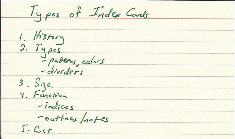 Types of Index Cards Bizfluent