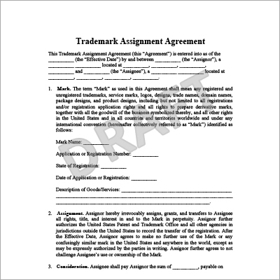 Trademark Assignment Agreement in Karnal,Trademark Assignment