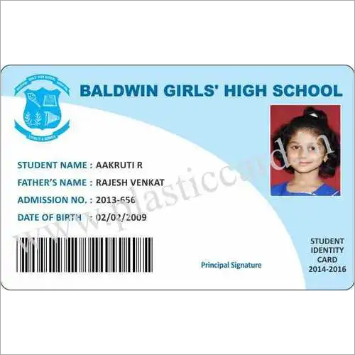 School Id Card - Manufacturers, Suppliers  Dealers
