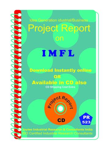I M F L manufacturing Project Report eBook - I M F L manufacturing