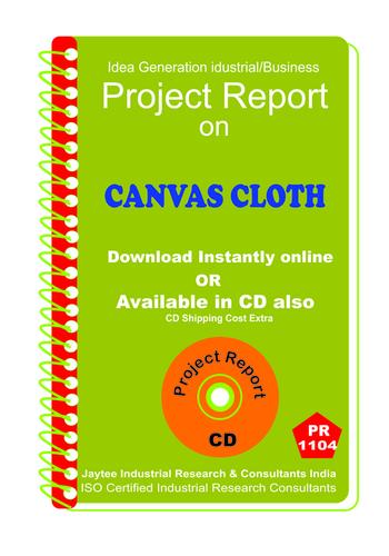Convas Cloth manufacturing Project Report ebook - Convas Cloth