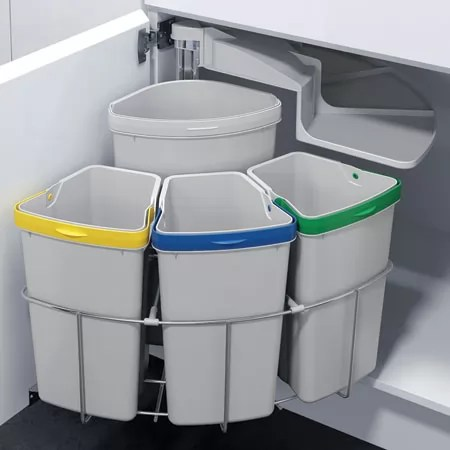 Hafele Oeko Centre Swing Out Waste Bin 39 Litres 50cm