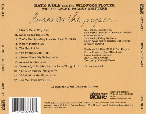 Lines on the Paper - Kate Wolf Songs, Reviews, Credits AllMusic