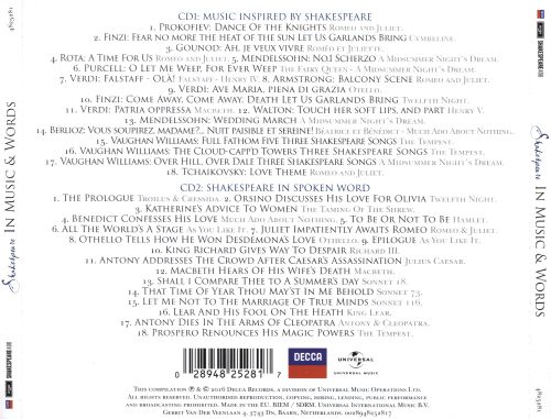 Shakespeare in Music  Words - Various Artists Songs, Reviews