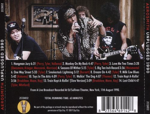 Unplugged 1990 Aerosmith Songs Reviews Credits