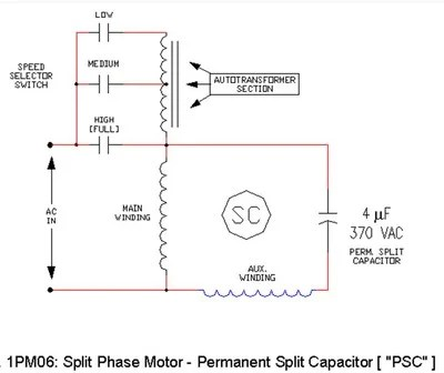 psc motor wiring diagram fasco motors d fasco hp direct drive blower