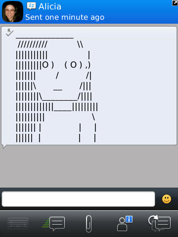 TextPics \u2013 Creative SMS, Email, IM and PIN art for your BlackBerry - cool text message art