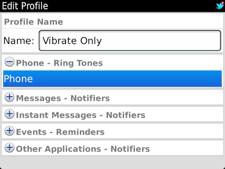 How To Make Calendar Alert Sound Pimp Your Sound Apalon How To Setup A Vibrate Only Profile On Your Blackberry