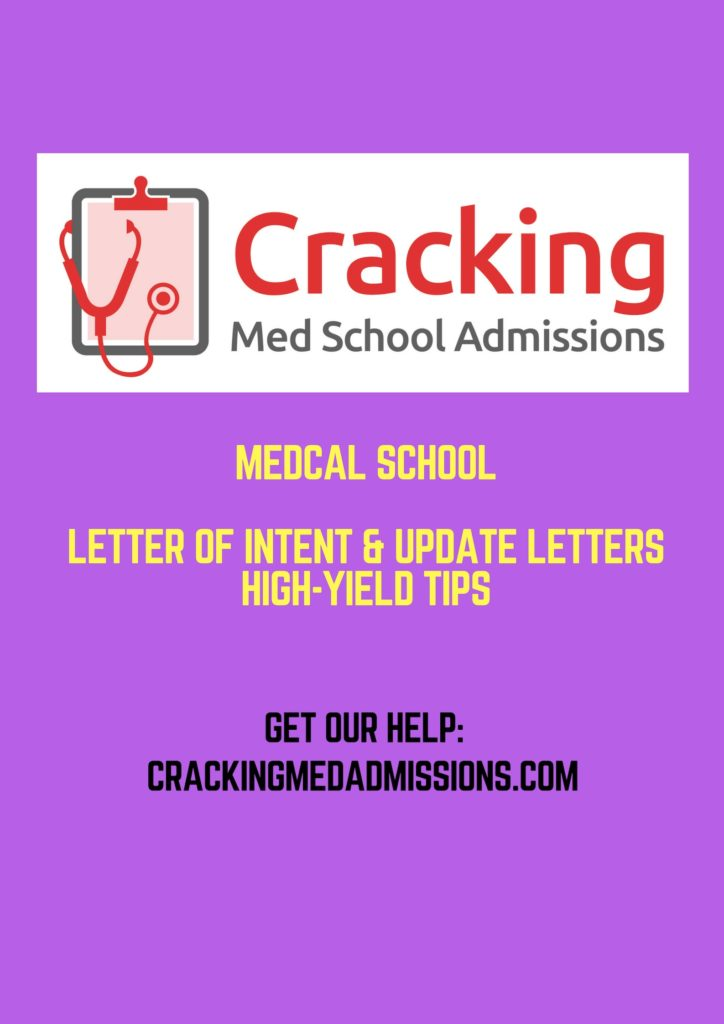 Medical School Letter of Intent and Update Letter 4 High-Yield Tips