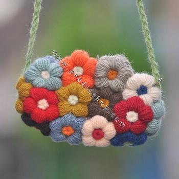 flower purse for women, crochet patterns - crafts ideas - crafts for