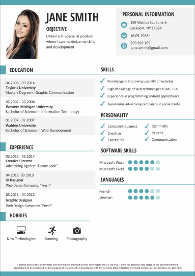 exemple of cv online