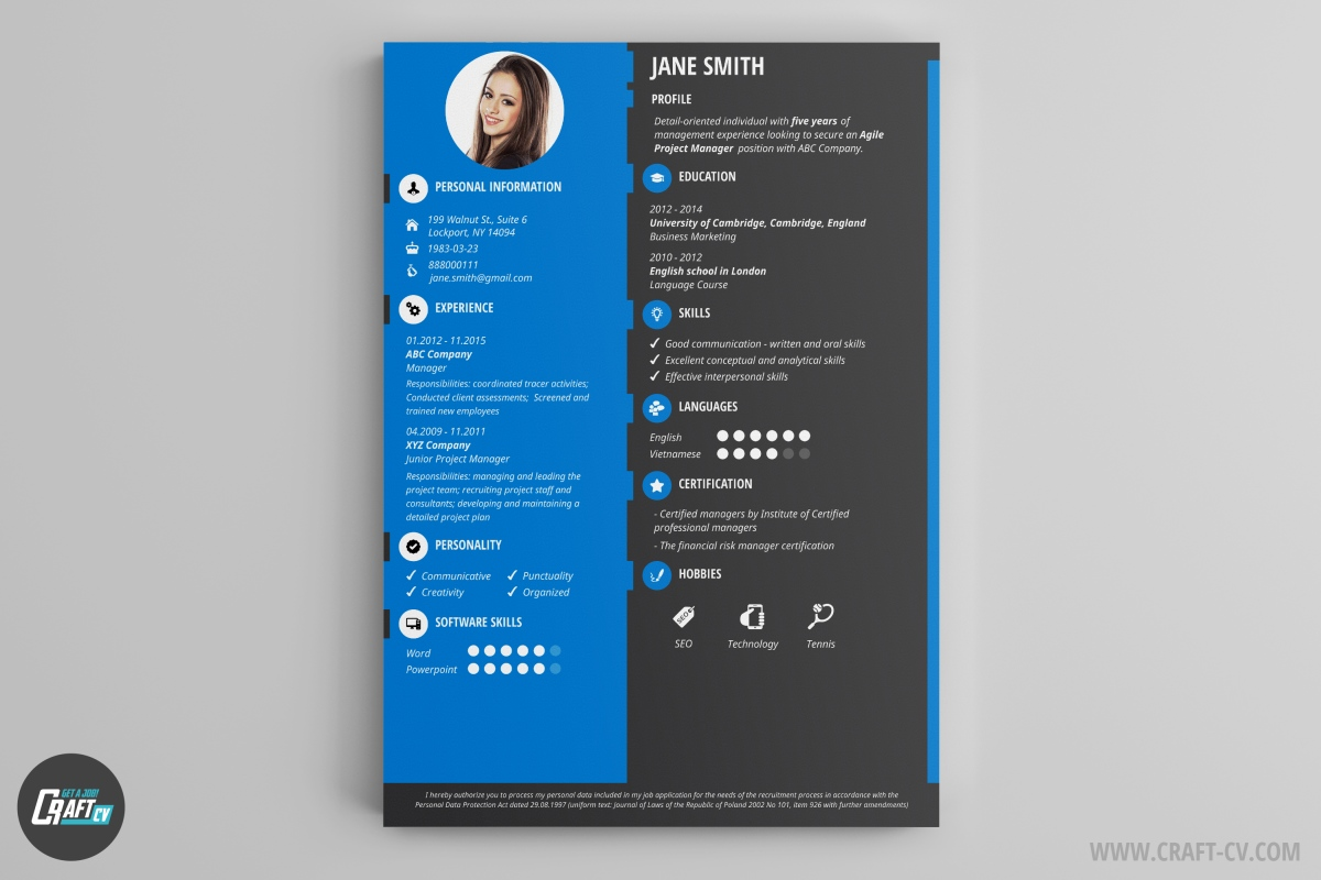 modele cv in design marketing