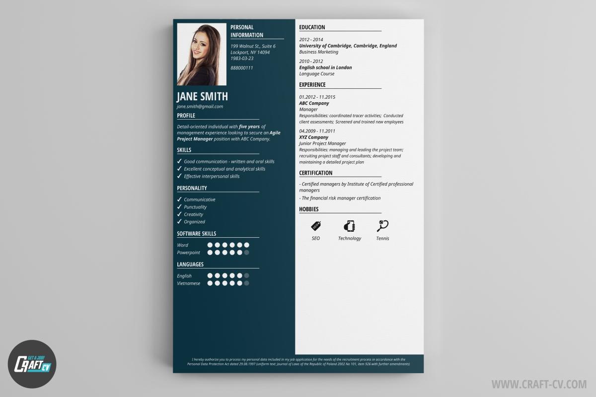 Cv Layout And Examples Cv Examples Uk And International By Bradley Cvs Cv Maker Professional Cv Examples Online Cv Builder