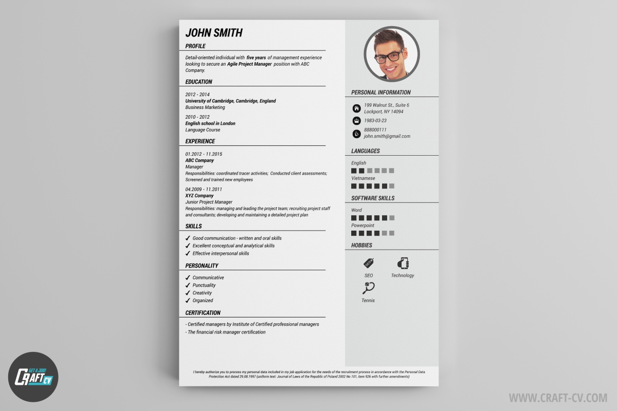 Cv Or Resume Sharelatex Online Latex Editor Cv Maker Professional Cv Examples Online Cv Builder