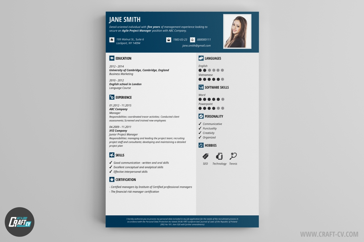 Online Resume Creator Website Sample Customer Service Oyulaw A HR Manager CV Template With