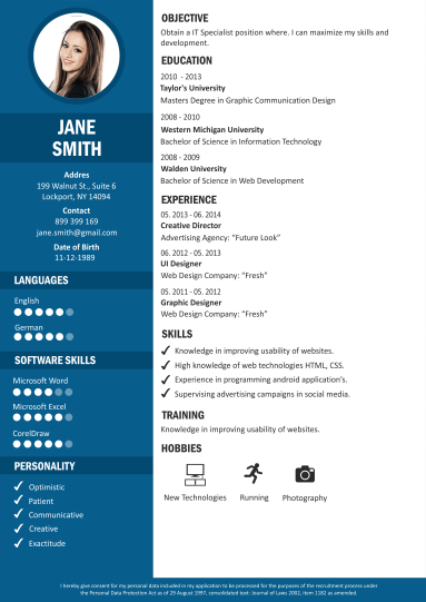 creer cv gratuit design