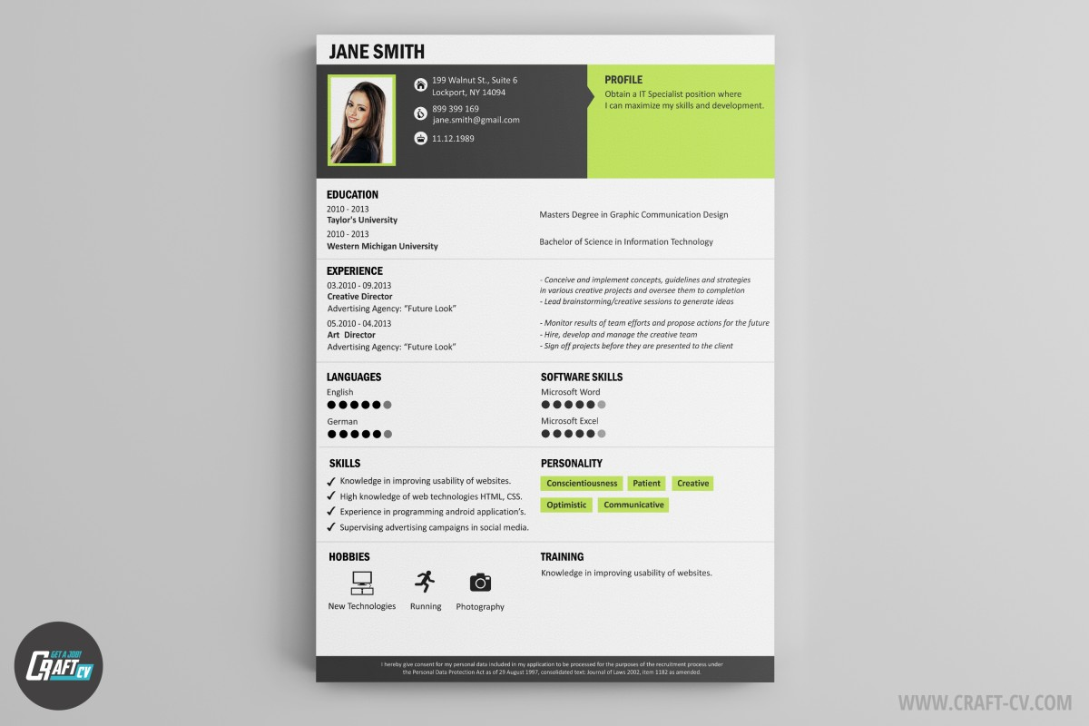 application pour creer son cv