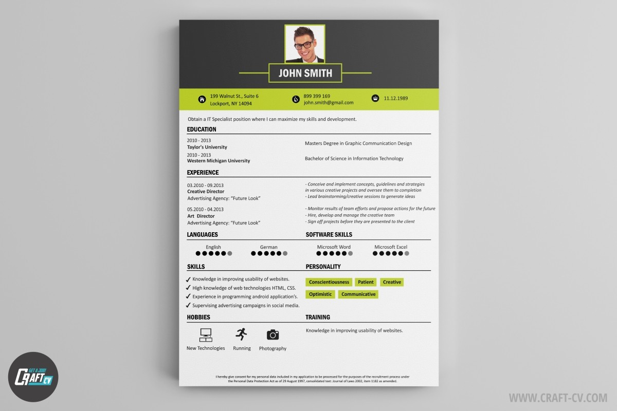 cree un cv simple et efficace