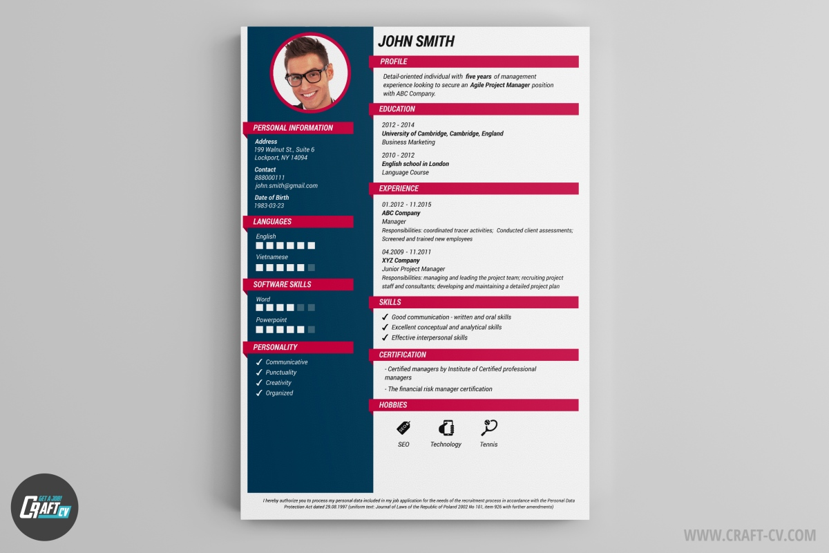 application pour creer son modele de cv