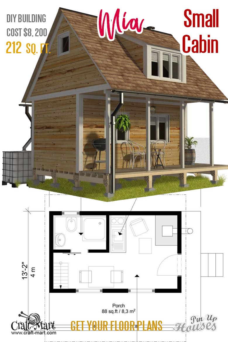 Small Unique House Plans A Frames Small Cabins Sheds Craft Mart