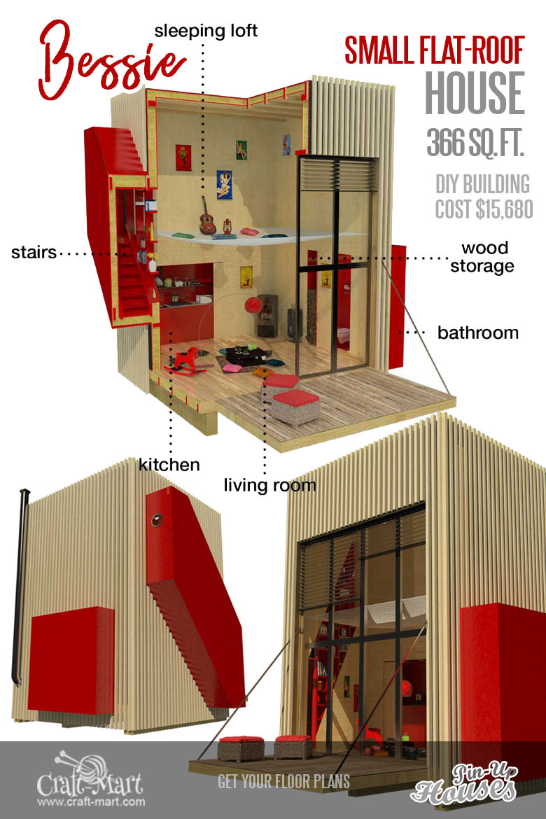9 Plans Of Tiny Houses With Lofts For Fun Weekend Projects Craft Mart