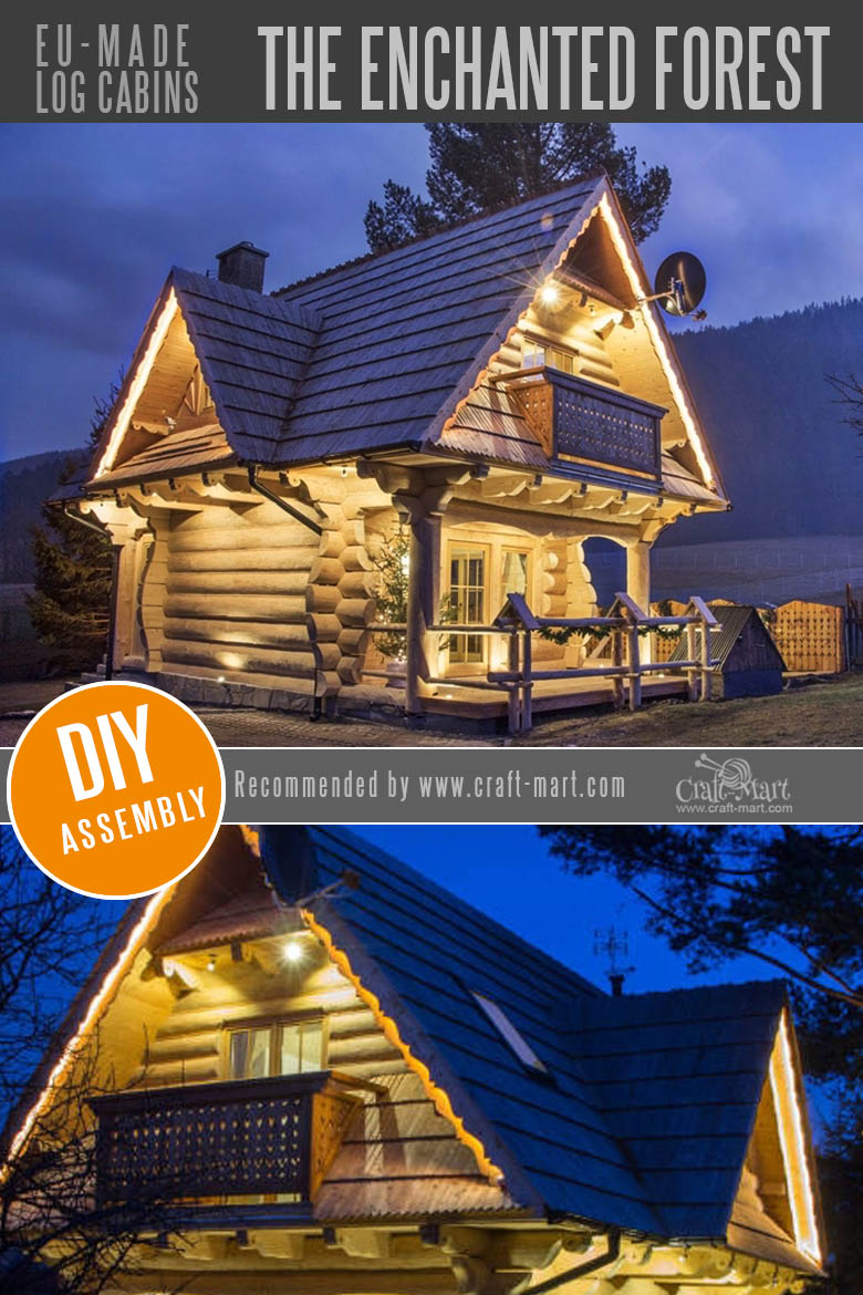Amazing Fairy Tale Style Log Cabin Homes Craft Mart