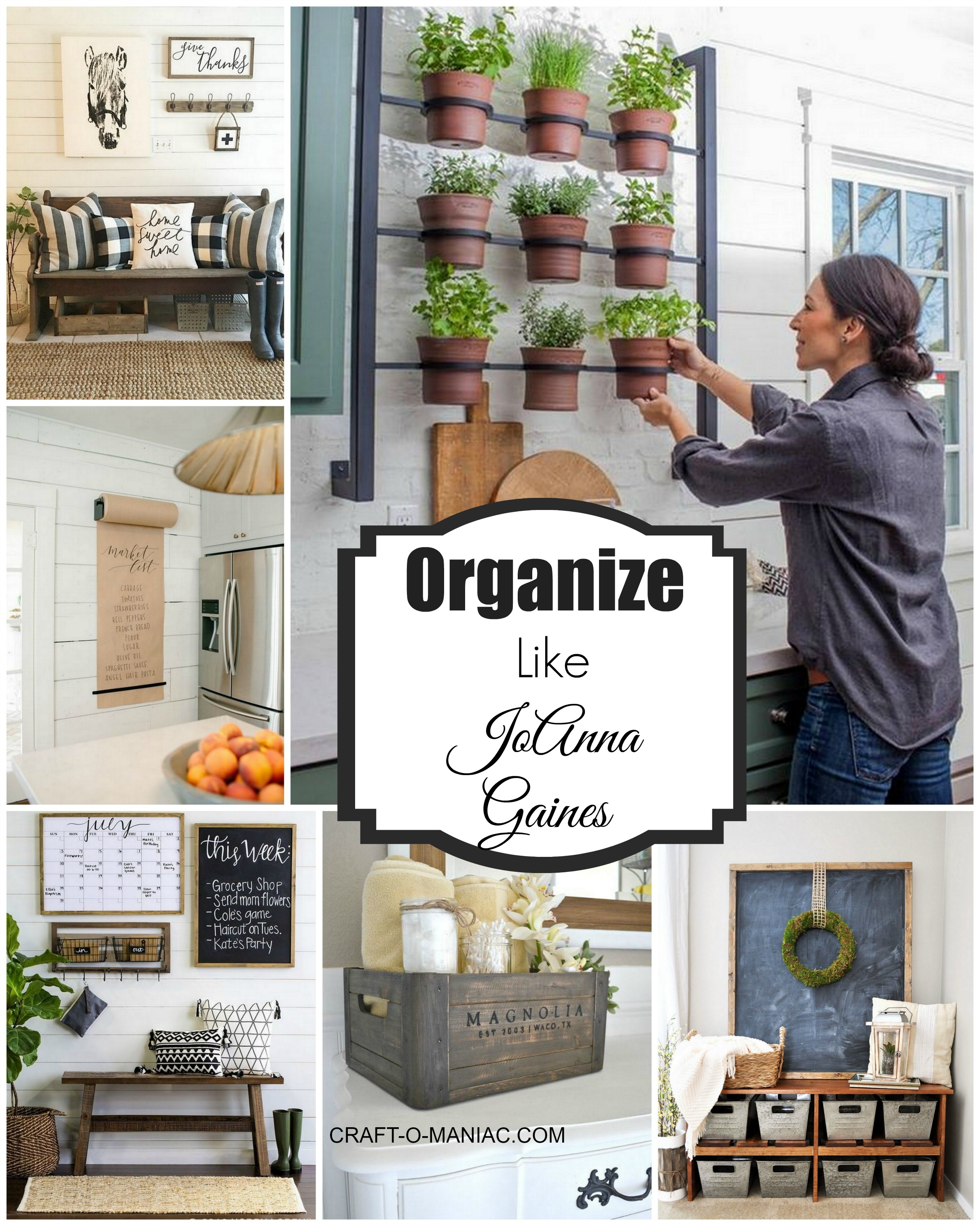 Joanna Gaines Farmhouse Mantel Organize Your Home Like Joanna Gaines Craft O Maniac