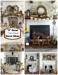 """8"" Great Fall Mantel Decor Ideas - Craft-O-Maniac"
