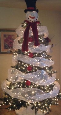 Make a snowman out of a christmas tree! | Craft projects ...
