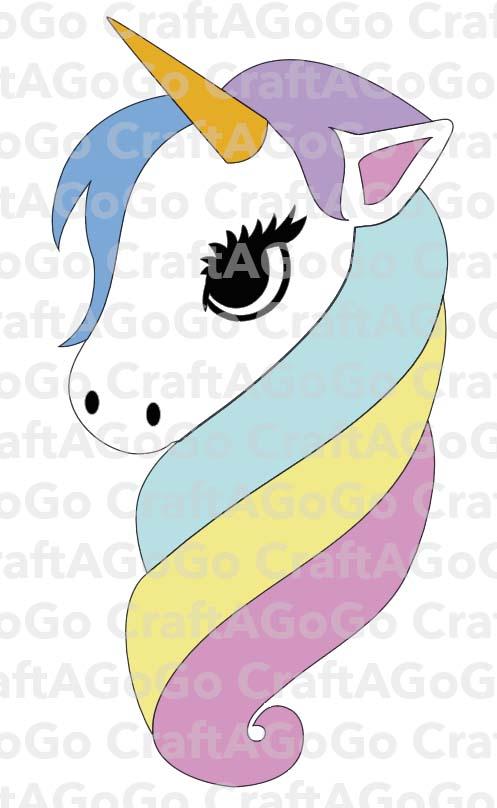 Rainbow Unicorn SVG and Clock Template - CraftAGoGo - unicorn template