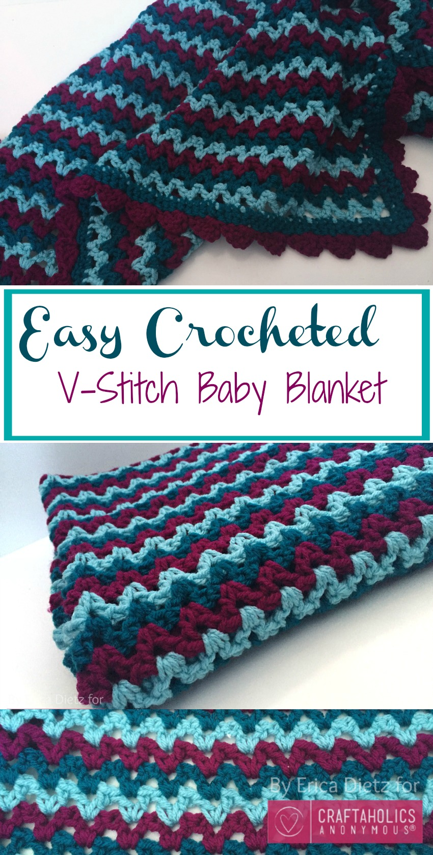 Crocheted Baby Blankets Craftaholics Anonymous Easy Crochet Baby Blanket