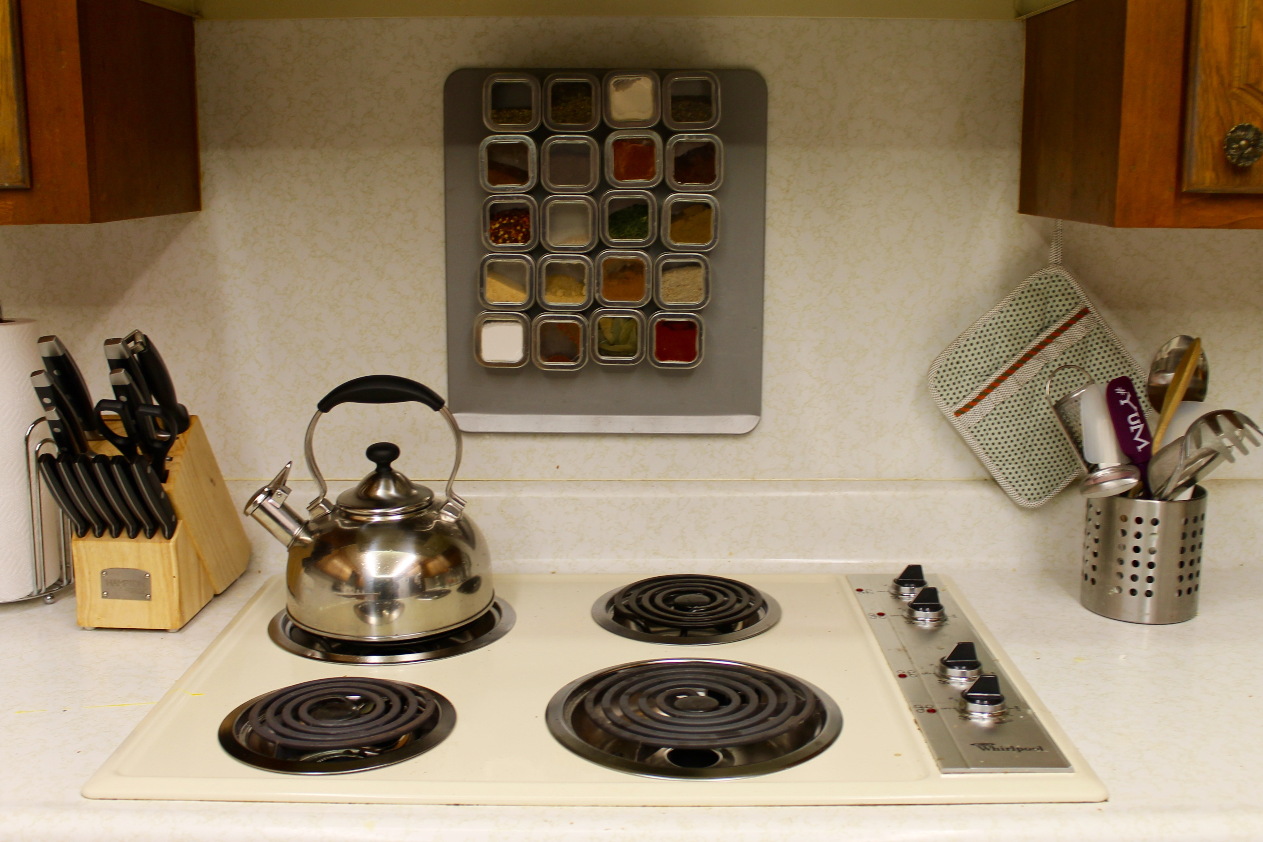 This Spice Rack Was Inspired By Pinterest, So Easy To Make And Cost Me Only  $30, But Could Easily Be Done For $20. In Addition, This Bad Boy Stays OFF  Of ...