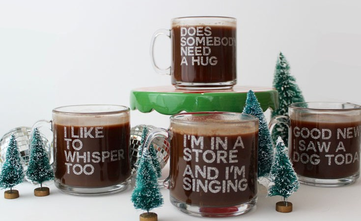 DIY Elf Quote Mugs