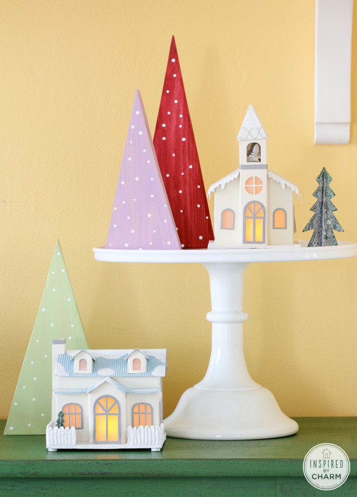 Inspired by Charm Modern Holiday Decor Christmas trees made from wood
