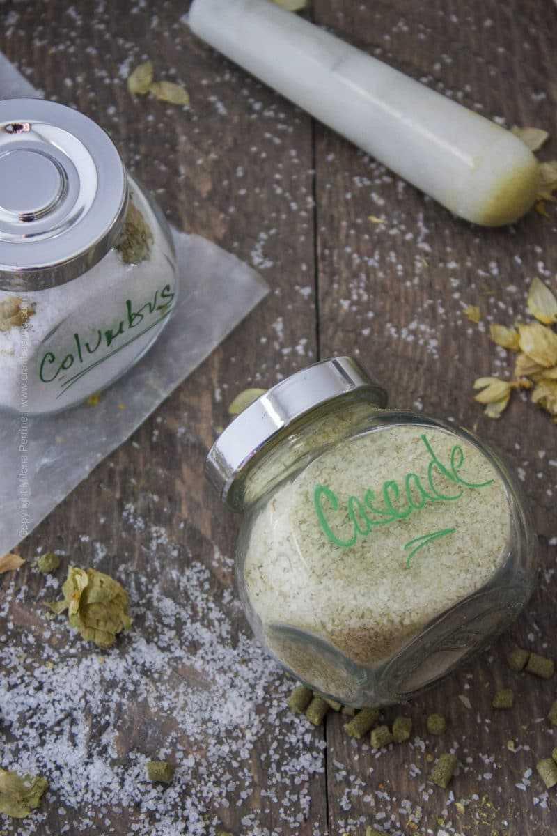 Enchanting Hop Salt Cascade Hops Columbus Super How To Make Your Own Hop Salt Easy How To Make Salt Pickles How To Make Salted Caramel photos How To Make Salt