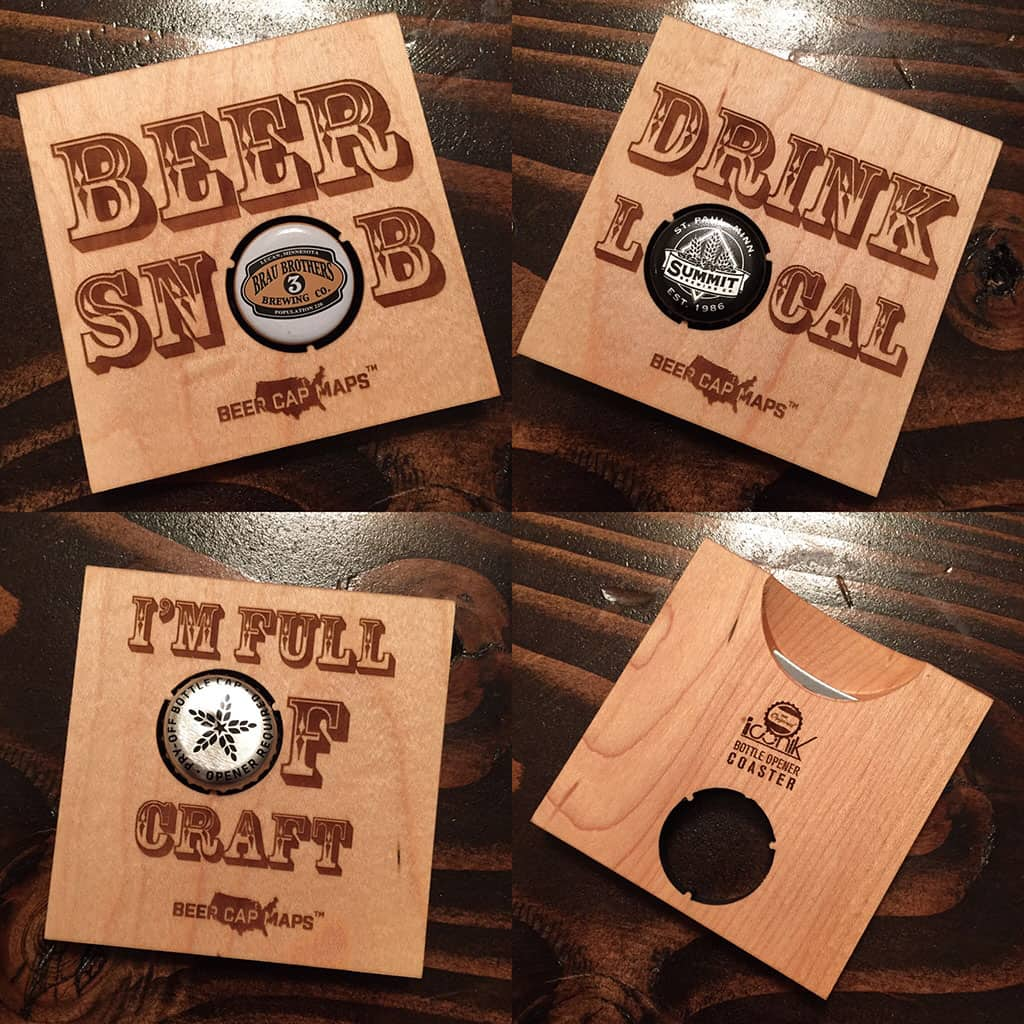 Cool Bar Coasters Bottle Opener Coaster Set Craftbeertime
