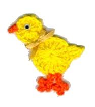 DIY Crochet Chick Magnet