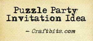 DIY Puzzle  Party Invitations