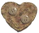 Glittering Heart Brooch